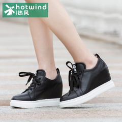 Deep mouth height increasing shoes shoes with hot spring and autumn ladies lace casual shoes women surge 61H5720