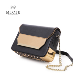 MICIE/beautiful city 2015 new female package rivet leather small baodan shoulder bag Messenger bag fashion flashes small package