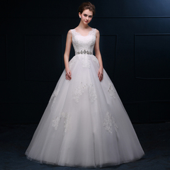 Purple Fairy spring/summer wedding gowns 2015 new Korean version of simple two-shoulder bridal wedding one shoulder dress