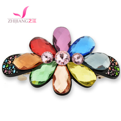 Zhijiang hair accessories clips Korea flower Crystal hair clip made by Chuck punctatus Korean rhinestones spring card