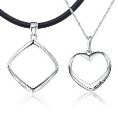 曼诺龙S925银吊坠情侣项链一对日韩学生男女创意生日礼物刻字