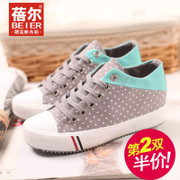 Becky 2015 new sweet dots high sneakers women's shoes low cut lace casual shoes sneakers-mail