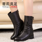 Tilly cool feet in 2015 new Martin boots for fall/winter fashion women boots women with round side zip boots