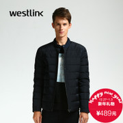 Westlink/West new minimalist down jacket collar zipper short casual male 2015 winter coat