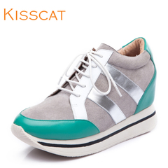KISSCAT kissing increased cat fashion Athletic Shoe stitching round head shoe D44780-01