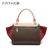 Title leather suede leather women bag handbag sweet dating commuter bag Star Wing bag