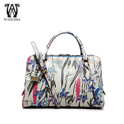 Wan Lima 2015 winter new style leather shoulder bag women bags handbags fashion printing counters authentic Crossbody tide