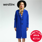 Westlink/2015 West New dropped shoulders loose wool woolen cloth coat to keep warm in winter woman wool coat