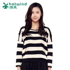 Hot spring and spring and autumn new women''''s ladies short round neck striped sweater Korean commuter jacket 08H5102