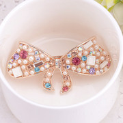 Good jewelry Korean version of butterfly spring clip hair accessories Korea women fashion rhinestone clip flower hair clip hair