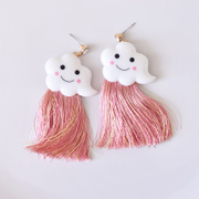 Compact ornament out of absolutely beautiful Sailor Moon earrings ear hook mischievous clouds streaming Su Er jewellery limited