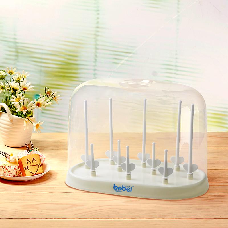 邦贝小象奶瓶架晾干架沥水干燥架子宝宝凉干燥支架防尘带盖