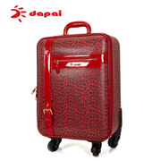 Dapai travel luggage trolley bag Leopard universal wheel box boarding red men and women wedding boot password box