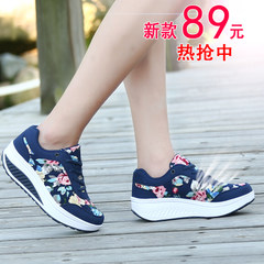 MI Ka 2015 winter floral shook shoes women new thick-soled casual shoes lace shoes walk Shoes Sneakers