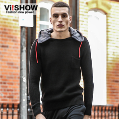 Viishow men's Hooded Sweatshirts men's spring 2015 new toe casual slim fit sweater tide