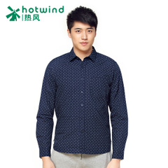 Hot spring and the spring and autumn new men's business casual polka-dot print shirt long sleeve men shirt 02W5108