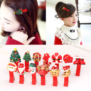 Knowing Minnie Christmas Santa Claus series of children''s hair accessories hairpin clip girls tiara baby hairpin jewelry