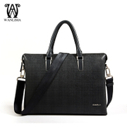 Wanlima/miles, spring 2016 Mall men's business shoulder bag Messenger bags laptop Briefcase