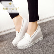 Puqi 2016 contracted a pedal in thick-soled platform shoes high women's shoes casual sneaker Korean spring shoes