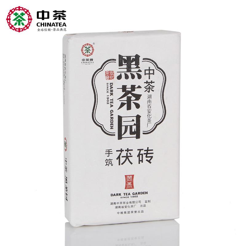 中茶黑茶园 湖南安化黑茶 金花茯砖 3年陈 闻黑手筑茯砖1kg