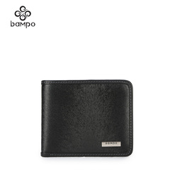 Bampo/the Banpo Neolithic village decorated men's cowhide leather wallet card bills cropped horizontal wallets