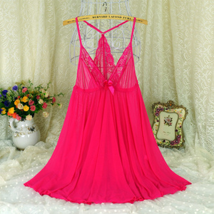Fat mm summer female extra large size lace strap nightdress couple sexy temptation transparent beauty back plus fat tulle pajamas