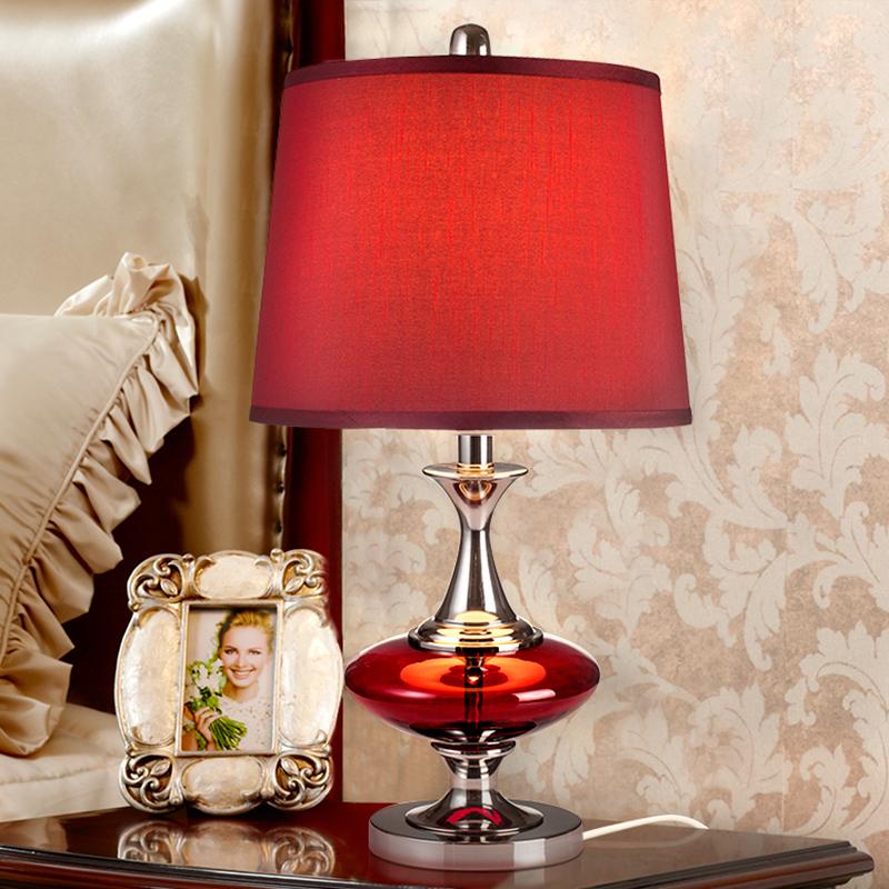 新婚房婚庆台灯创意时尚红色礼物结婚床头灯卧室欧式台灯现代简约图片