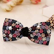 Beautiful Princess new Japan Korea fashion Austria rhinestone hair clip spring clip Korean tiara ponytail holder
