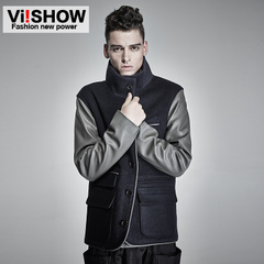 Viishow mens new winter coat men's coat stand collar wool cloth jacket men-season clearance sale