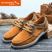 Red Dragonfly genuine leather men's shoes fall/winter new fashion cowhide strap casual shoes wear men's shoes