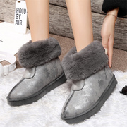Shield Fox flat platform uggs women boots waterproof non-slip student thick heat preservation short tube female winter shoes new