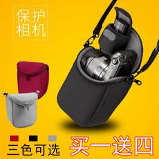 佰卓 微单相机包适用索尼A6000 A6300 A6500 NEX3 5 7佳能M3 M5 M6 M10便携收纳保护套加厚内胆包 单肩收纳袋
