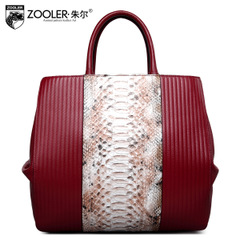 Jules European fashion leather women bag handbag leather new snakeskin shoulder bag Crossbody bag for fall/winter tide