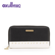Exull q2015 new autumn colour matching fashion rivet zipper wallet clutch bag 15335206