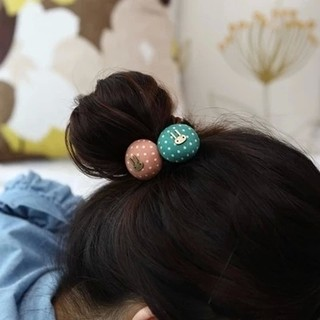 Know Richie jewelry rope made by the Korean version of firing in bursts of fabric waves lap the rabbit hair jewelry hair band flower head band