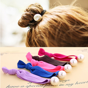 Know Connie hair popular rope made by the Korean version of the string of Pearl hair jewelry hair tie elastic hair bands