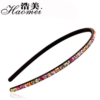 Water drill Korean band full rhinestone hoop hair hoop Korea import drill head full rhinestone hair accessories hairpin hair clip package mail