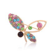 Good Korean boutique rhinestone brooch jewelry chest buckle accessories fashion elegant Butterfly brooch pin
