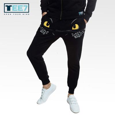 TEE72015秋冬新品驯龙高手休闲裤 男款棉质立体印花时尚男长裤子