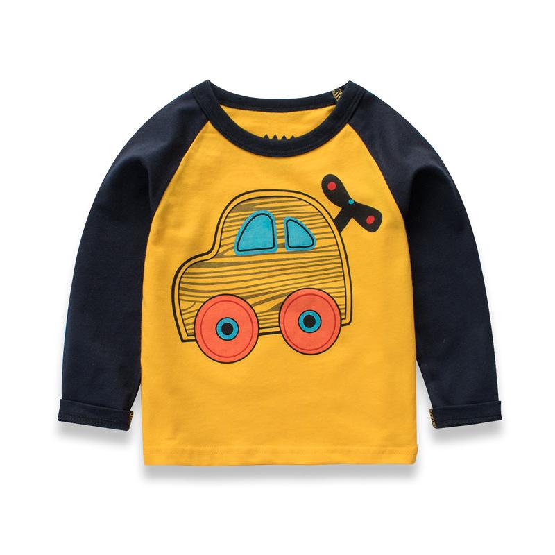 广仓一 秋款纯棉中小童装长袖T恤 儿童秋装打底衣男童男孩上衣