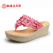 Spider King a new handmade floral stereo summer flowers daily with good comfortable slippers women Sandals shoes