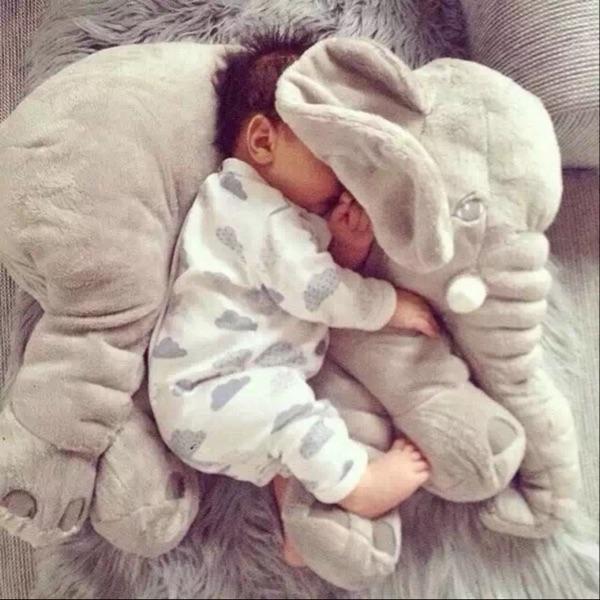 大象毛绒玩具公仔睡觉安抚抱枕公仔婴儿枕头陪宝宝睡布娃娃玩偶