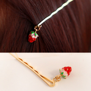 Know Connie hair accessories Korean clip cute Strawberry hair clip hairpin Korea alloy side clip bangs Chuck jewelry