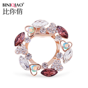Scarf buckle upscale female Korean brooch shawl chain Crystal brooch pin fashion scarf buckle dual-use