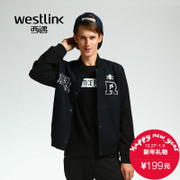 Westlink/2015 West New stitching embroidery letters printed in Europe and America in winter jackets men's baseball uniform