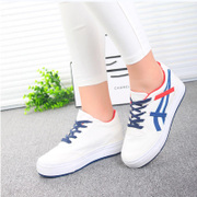 Special offer increased canvas Korean shoes women clearance casual women's shoes wave thick-soled platform student shoes