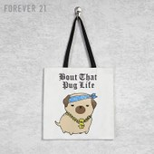 Forever 21 Bout That Pug Life Canvas Bag