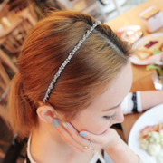Exquisite rhinestone twist twisted thin headband hairband 2015 Korea new simple fashion Joker-encrusted hair ornaments