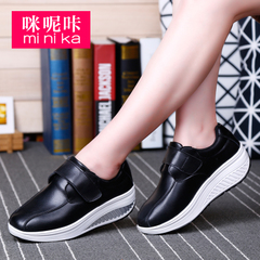 Microphone Ta new shook the shoe girl Korean version of the platform flows for fall/winter sneakers with Velcro lazy leisure shoes women
