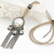 Love mail jewelry fringed sweater chain long necklace Joker female Korean fashion jewelry Korea vintage